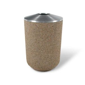 35 Gallon Round - Concrete Trash Receptacle