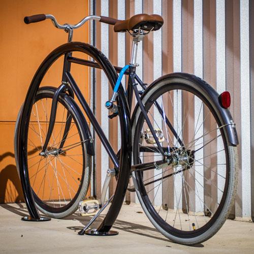 Round Bike Rack Black