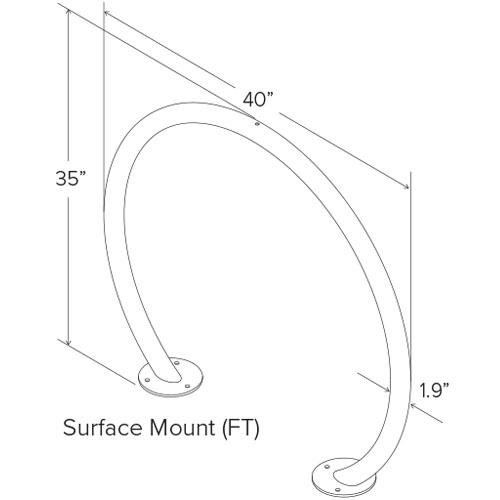 Round Bike Rack Diagram