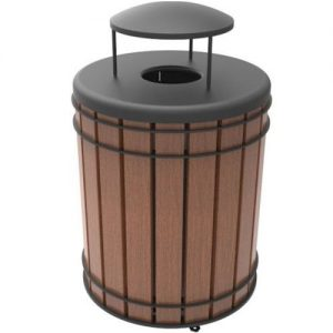 Madison Ipe Wood Receptacle