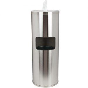 Stainless Floor Wipes Dispenser & Trash