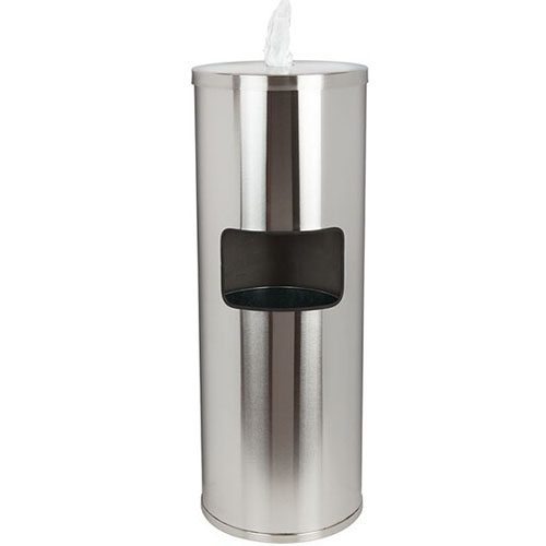 Stainless Floor Wipes Dispenser & Trash