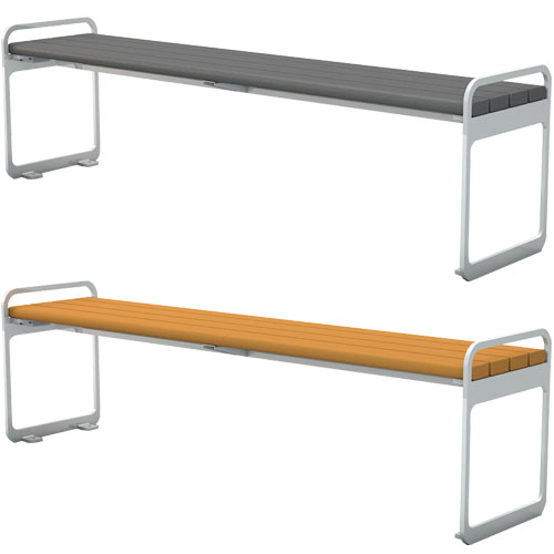 Recycled Plastic Plaza Backless Bench