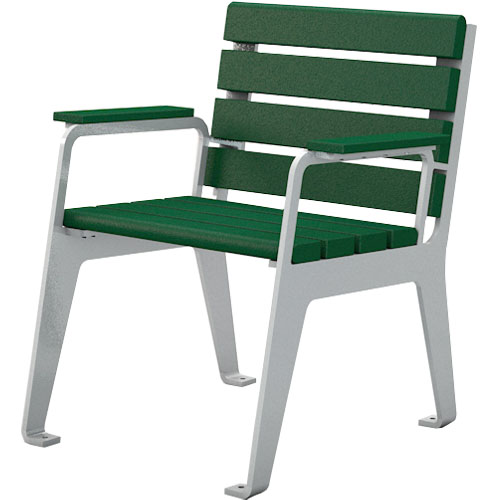 Recycled Plastic Plaza Chair