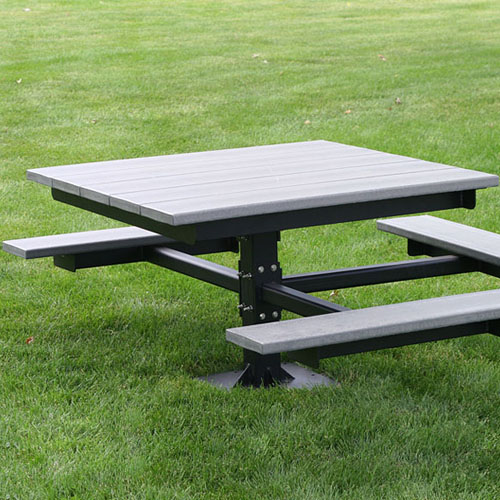 Recycled Plastic Picnic T-Table ADA
