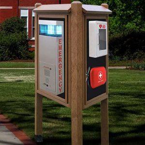 Emergency Kiosk Message Centers