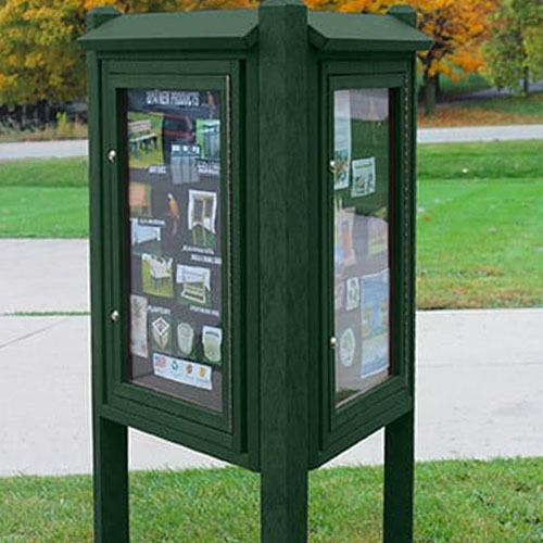 Kiosk Message Center 3 Sided