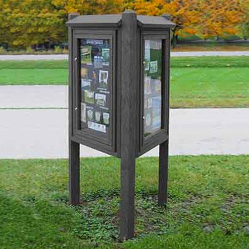 Kiosk Message Center 3 Sided