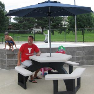 Hexagon Recycled Plastic Picnic Table