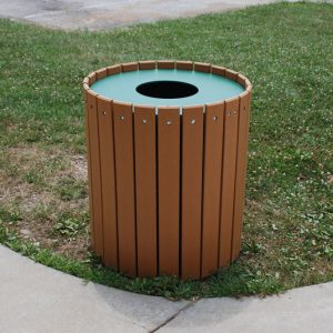 Standard Round Trash Receptacle