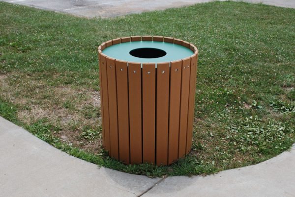 Standard Round Trash Receptacle