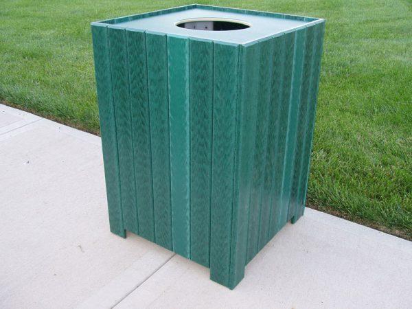 Standard Square Trash Receptacle