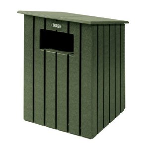 20 Gallon Square Trash Bin With Sloping Roof