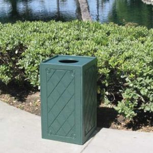 22 Gallon Square Trash Receptacle