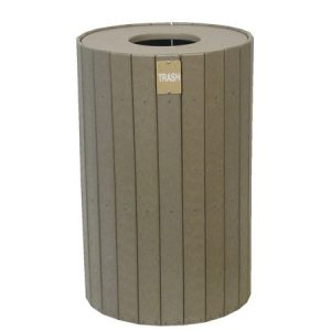 22 Gallon All Recycled Plastic Trash Receptacle