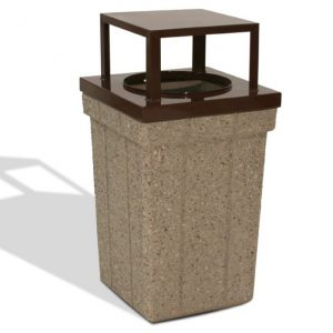 28 Gallon Square Trash Receptacle