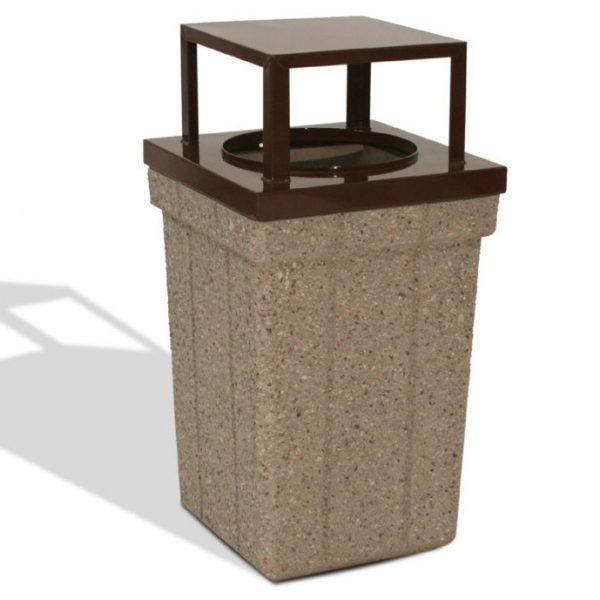 28 Gallon Square Trash Receptacle