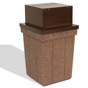 28 Gallon Push-Door Trash Receptacle
