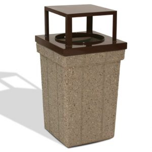 40 Gallon Covered Trash Receptacle