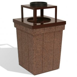 40 Gallon Trash Receptacle w/ Ash Tray