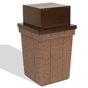 40 Gallon Push-Door Trash Receptacle