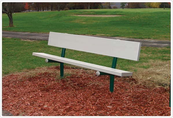 Permanent Park Bench - Park bench and table