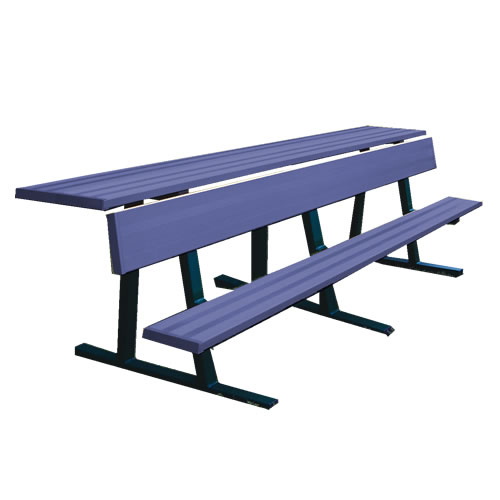 Powder Coated Team Bench With Shelf