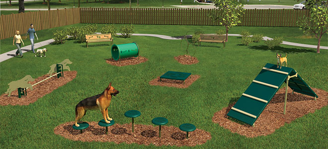 Intermediate Bark Park Obstacle Course - Intermediate Dog Obstacle Course
