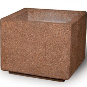 "36"" Heavy Duty Square Concrete Planter"