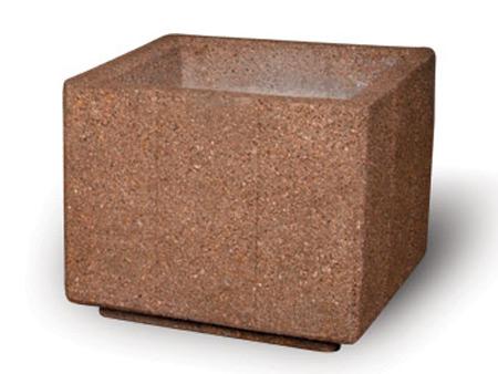 """36"""" Heavy Duty Square Concrete Planter"""
