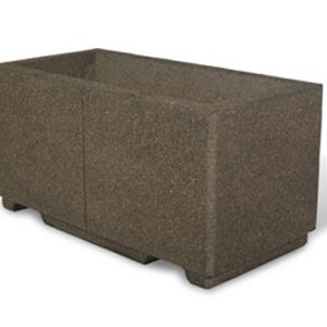 "48"" Rectangular Concrete Planter"