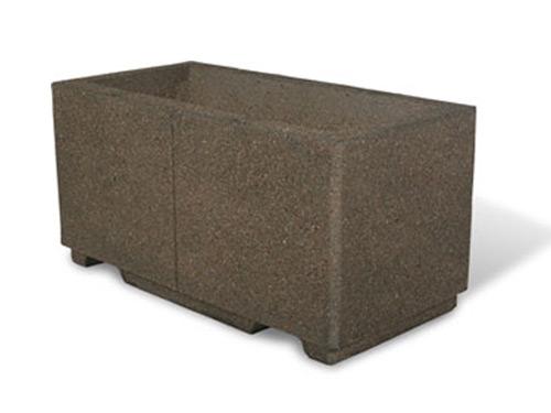 "48"" Rectangular Concrete Planter"