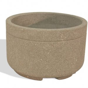 "Heavy Duty 48"" Round Concrete Planter"