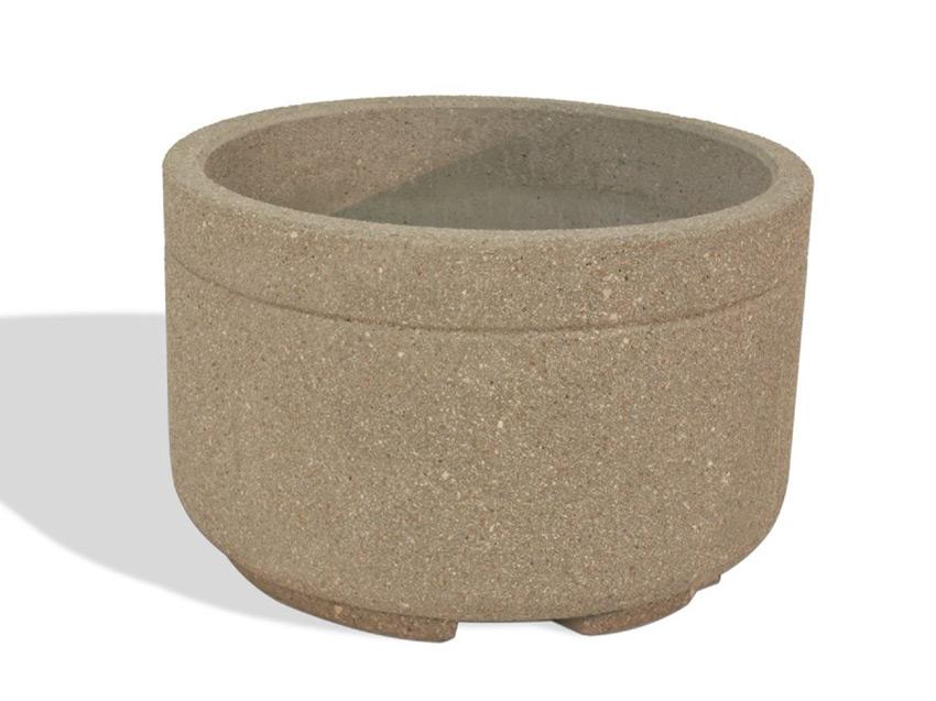 Heavy Duty Cement : Heavy duty quot round concrete planter