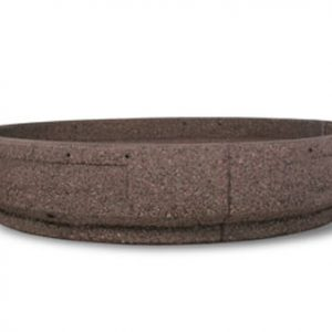 "72"" Two-Piece Round Concrete Planter"