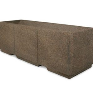 "Heavy Duty 72"" Rectangular Concrete Planter"