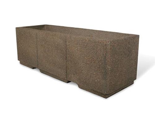 "Heavy Duty 72"" Rectangular Concrete Planter"