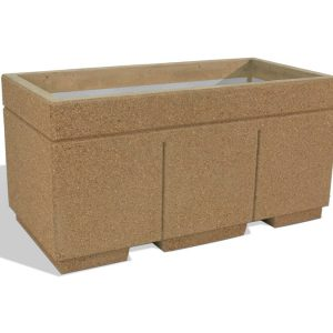 "Ultra Duty 72"" Rectangular Concrete Planter"