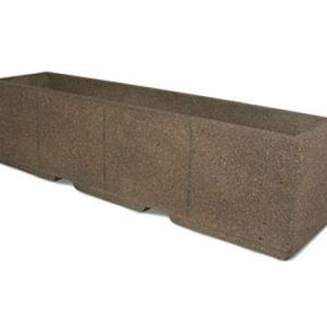 "96"" Rectangular Concrete Planter"
