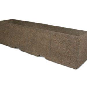"96"" Rectangular Concrete Planter"