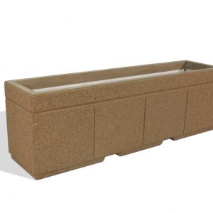 "Super Duty 96"" Rectangular Concrete Planter"