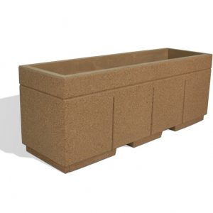 "Ultra Duty 96"" Rectangular Concrete Planter"