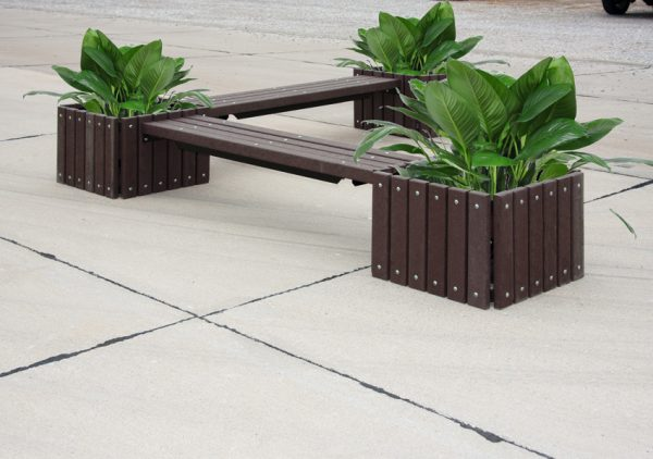 Recycled Plastic Bench Planter