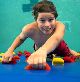 8ft. High Pool Climbing Wall