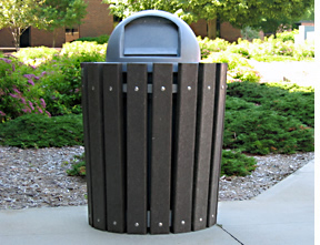 32 Gallon Round Trash Receptacle