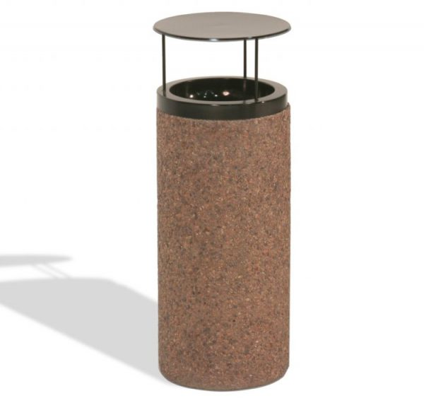 Round Concrete Ash Urn with Pitch In Top