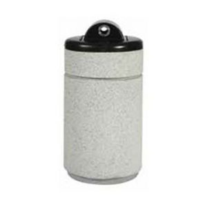 "Poly Lite Crete Round ""Hide-A-Butt"" Receptacle"
