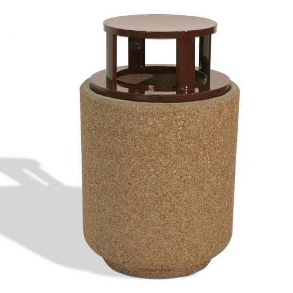 40 Gallon Round Trash Receptacle