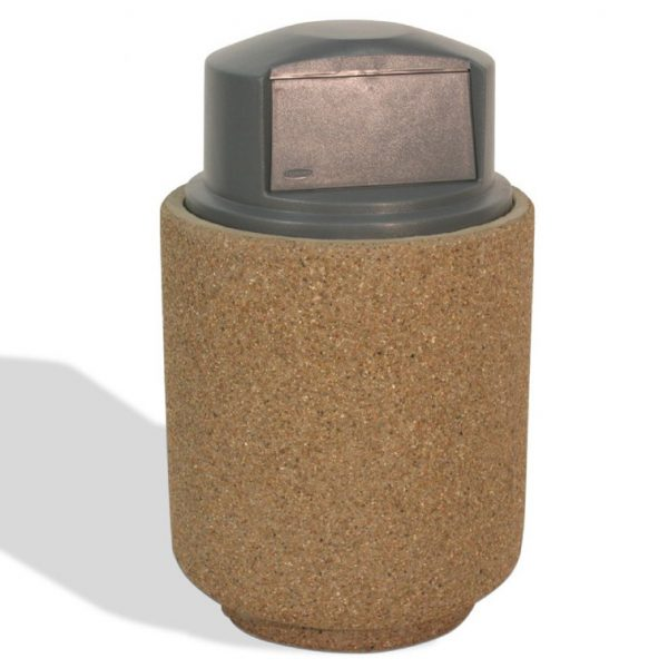 40 Gallon Round Push-Door Trash Receptacle