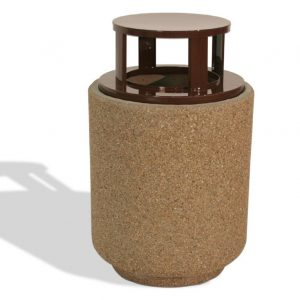 60 Gallon Round Trash Receptacle